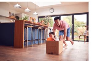 cardboard box play for kids