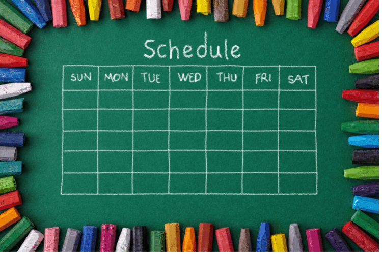 family planner schedule